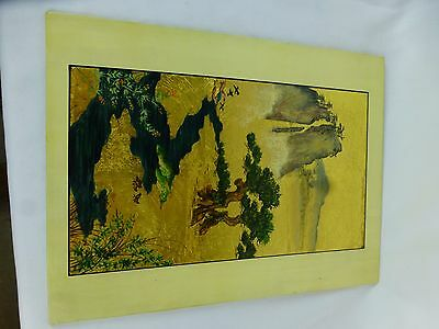 """y8-w7-a8 Unusual Gilt Chinese Hand-made Art 12"""""""
