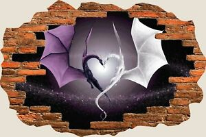 3D-Hole-in-Wall-Fantasy-Dragon-Heart-View-Wall-Sticker-Decal-Wallpaper-Mural-687