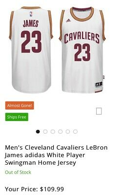 official photos 5a574 bb8ea Cleveland Cavaliers Jersey #23 Lebron James Adidas swingman NEW NO TAGS  size XL | eBay