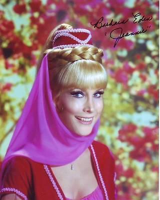 Barbara Eden Signed I Dream Of Jeannie Photo W/ Hologram Coa Autographs-original
