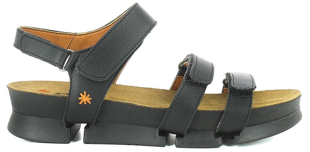 THE donna ART COMPANY 1310 I CREATE sandalo donna THE cinturini velcro pelle nero 2b084b