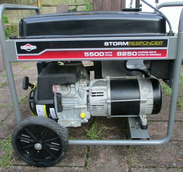 Briggs Stratton 5500 Watt Storm Responder Generator For Sale Online Ebay