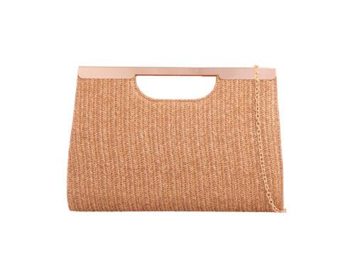 Womens Designer Knitted Style Clutch Bag Handbag Work Shoulder Ladies Tote Purse