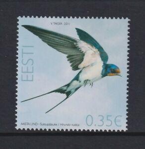 Estland - 2011, 0.35e Barn Swallow, Vogel Briefmarke - MNH - Sg 647