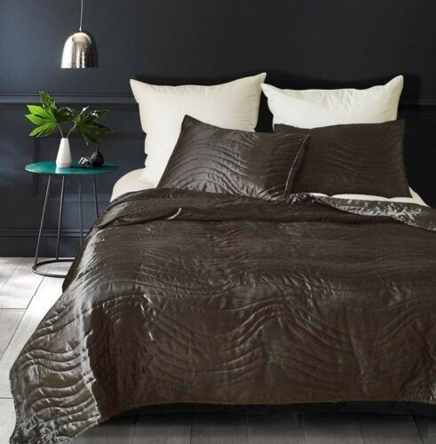 3 Piece Quilts sets Bedspread Sham pillowcase Queen King US Summer Silk Imitatio