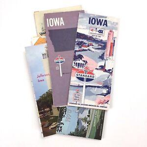 1966-1969-Standard-Oil-Vintage-Road-Maps-IOWA-1970-visitor-guide-Des-Moines