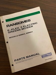 Details about Ransomes E-Plex 2 Electric Greens Mower Parts Manual on