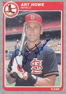 Art-Howe-Signed-1985-Fleer-228-Cardinals-Signed-Autograph