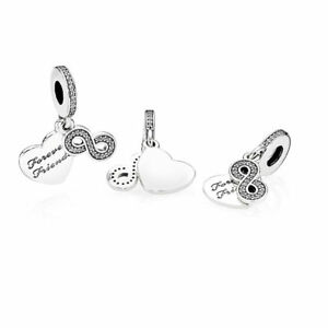 f80a5e12f ... coupon code for image is loading authentic pandora charm 791948cz forever  friends dangle 97440 42dad ...