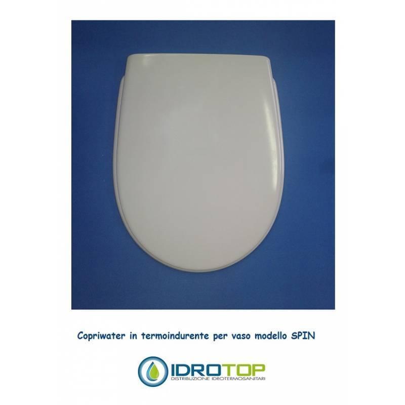 Toilettensitz kompatibel Spin duroplastisch weiß Euro Flaminia