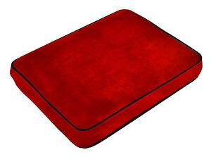 Soft Velour Memory Foam Contour Car, Plane, Home Travel Pillow / Cushion - Red