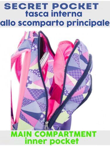 New Fancy Inserti Seven Viola Zaino Rifrangenti Scuola Lt 30 6Ewfx7Rq