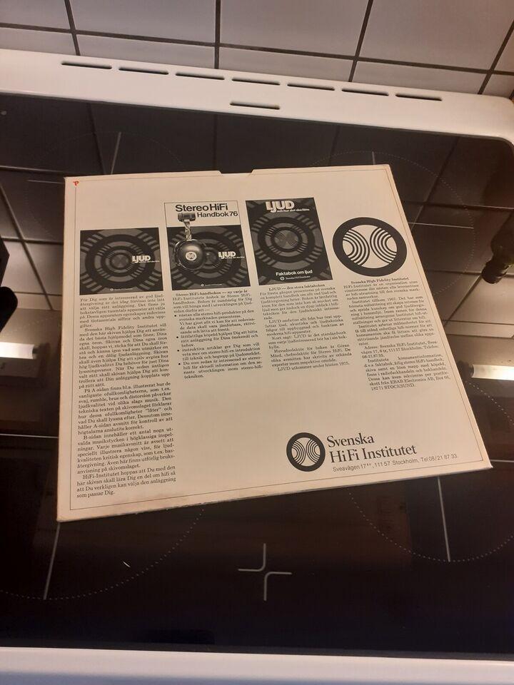 LP, Test plade, LJUD - och hur det ska låta