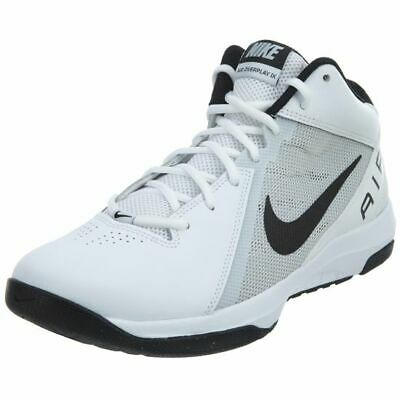 Men's Nike The Air Overplay IX Basketball Shoes WhiteBlackPure Platinum New | eBay