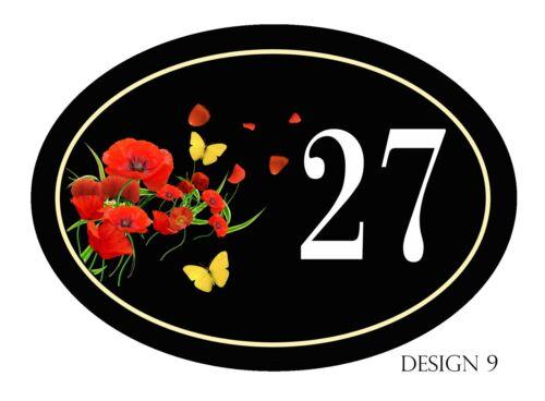 House Nom ou numéro Neuf ovale gamme Plaque//Signe Personnalisé gratuit caravane Porte
