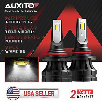 2pc 9012 LED Headlight Bulbs 6000K for Chrysler 200 300 2011-2015 High Low Beam