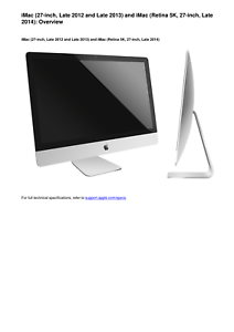apple imac 27 inch late 2012 2013 and retina 5k late 2014 service rh ebay com apple imac 21.5 user manual apple imac 2017 user manual