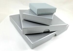 Silver Colour Glossy Matte Gift Box Large Letter Postal 4 Sizes