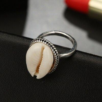 e66e6ebd73a62 Boho Nature Cowrie Shell Ring Handmade Silver Band Rings Jewelry Gift UK |  eBay