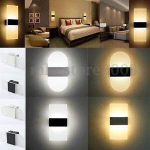 Image Is Loading Modern Led Wall Light Up Down Cube Indoor