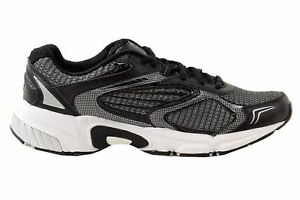 0db859485200 Fila Men s Boys Swerve 2 Size 8 Black Silver Leather Mesh Running ...