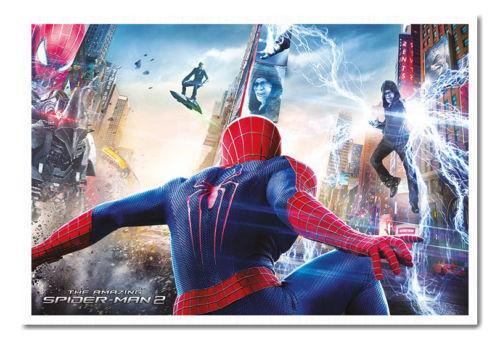 Gerahmt Spiderman 2 Kampf Angriff Magnetisch Anschlagtafel inklusive Magnete