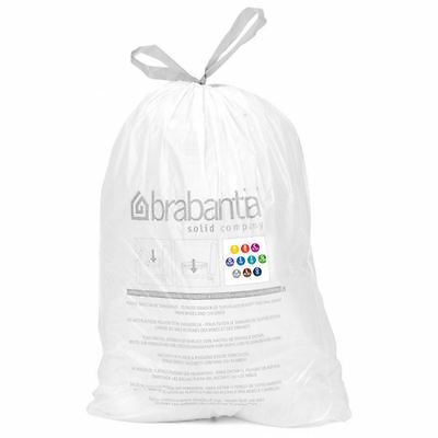 20 Genuine Brabantia Size B Type 5L 5 Litre Smart Fix Bin Liners Waste Bags Bag