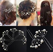 Accessoire mariage, bijou de cheveux , épingle à chignons  perles blanches