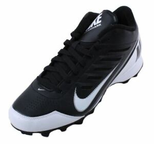 Nike-Land-Shark-3-4-Mens-Black-White-Athletic-Football-Cleats