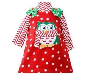 85685d1855a Bonnie Jean Girls Penguin Red Christmas Fleece Jumper Dress 2 Pc 2T ...