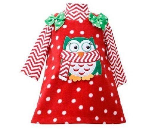 Bonnie Jean Girls Penguin Red Christmas Fleece Jumper Dress 2 Pc 2T 4T