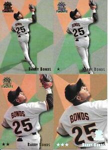 BARRY-BONDS-1999-TOPPS-STARS-4-CARD-LOT-14-REGULAR-1-STAR-2-STAR-3-STAR