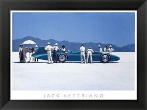 """/""""Bluebird at Bonneville/"""" Jack Vettriano 31x24 Framed Art"""