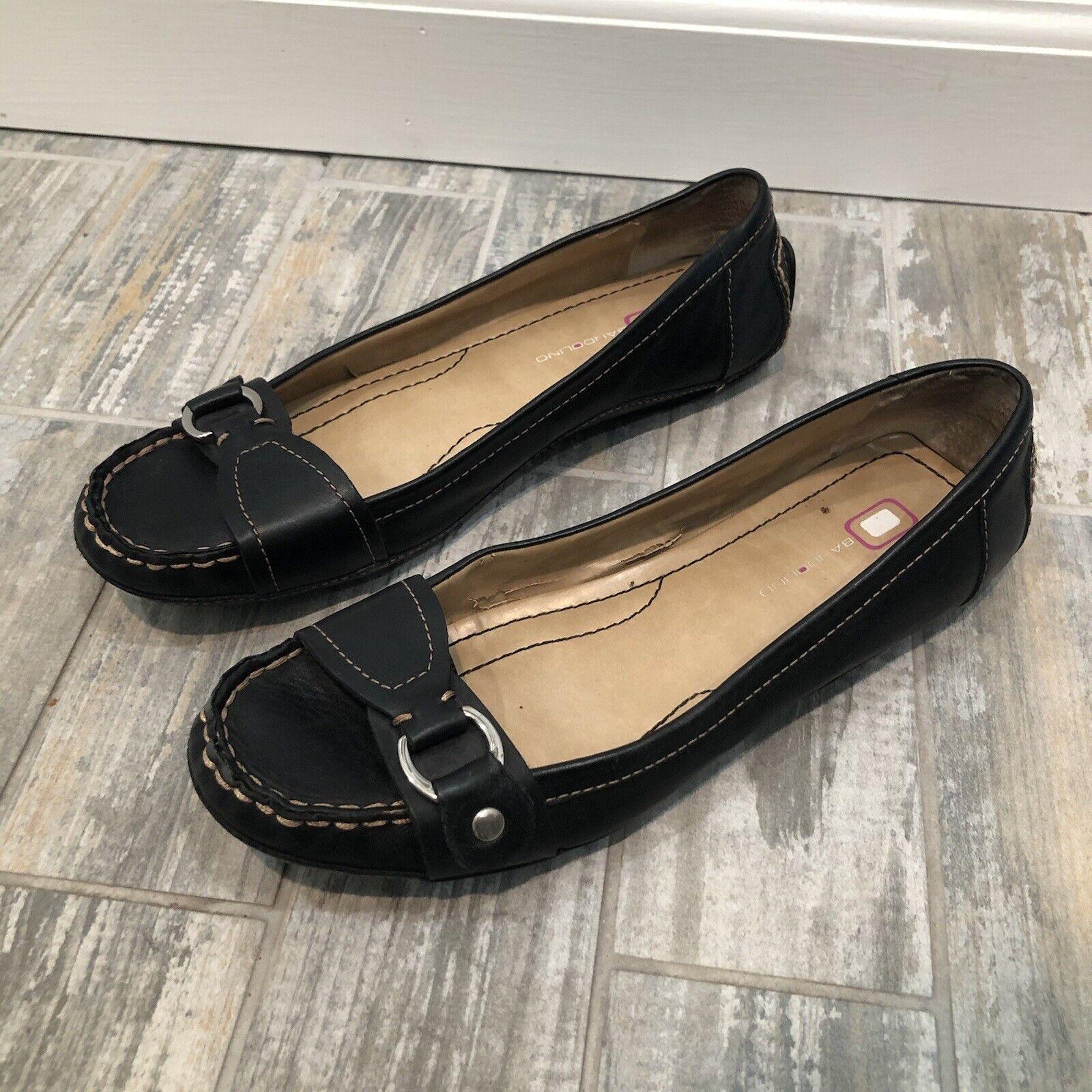Bandolino Size 7 M Black Loafer Shoes Leather Women Lornef