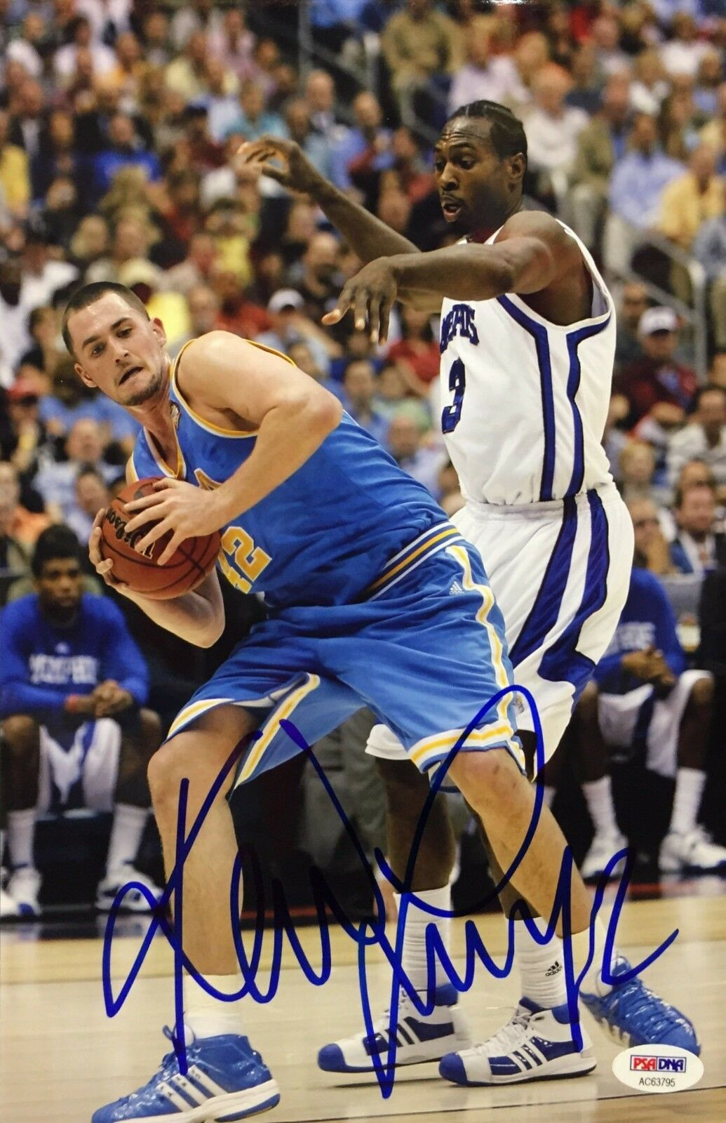 Kevin Love Signed 8x12 UCLA Basketball Photo PSA AC63795