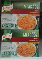 Knorr Mi Arroz Rojo (red Rice)con Jiomate & Ajo Seasoning Mix-3 Boxes -free Ship