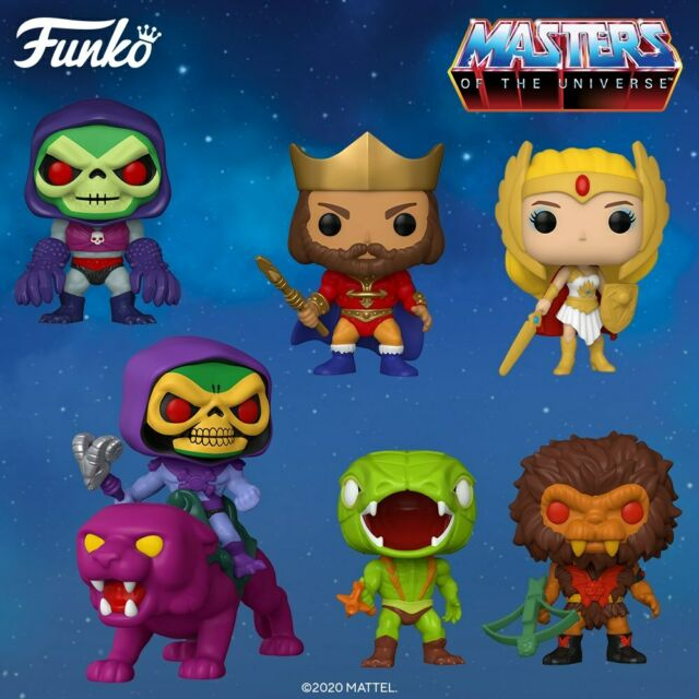 Television ~ MASTERS OF THE UNIVERSE 9-FIGURE SET w//SPECIALTY Funko POP