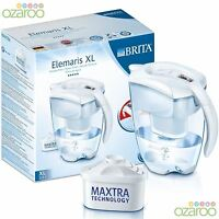BRITA Elemaris Cool WHITE 3.5L XL Large Fridge Water Filter Jug +1 MAXTRA Filter