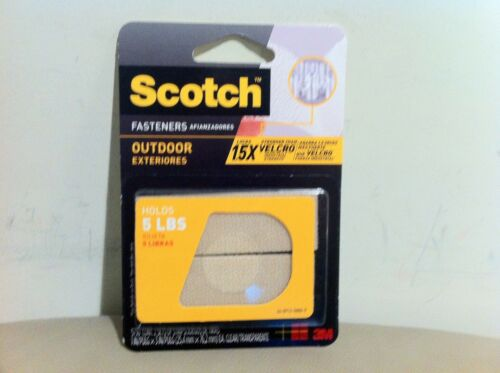 "2 x New Scotch Outdoor Fasteners 1"" x 3"", Holds 5 LBS Brown For indoor outdoor"