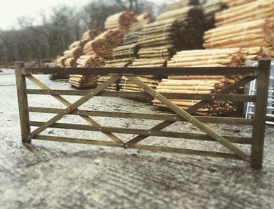 10ft 5 Bar Wooden Diamond Braced Farm Field Entrance Pathway Gate 30m 300cm Ebay