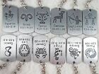 Constellations Keychains Zodiac Key Chain Metal Key Chain Key Chain Ring