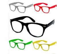 Wayfarer Nerd Brille ohne Stärke Nerdbrille Retro Atze