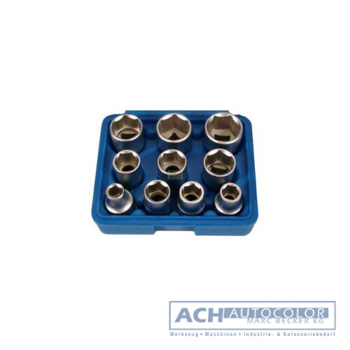 BGS 2434 Steckschlüssel Zollwerkzeug Sechskant 10 teilig Stecknüsse