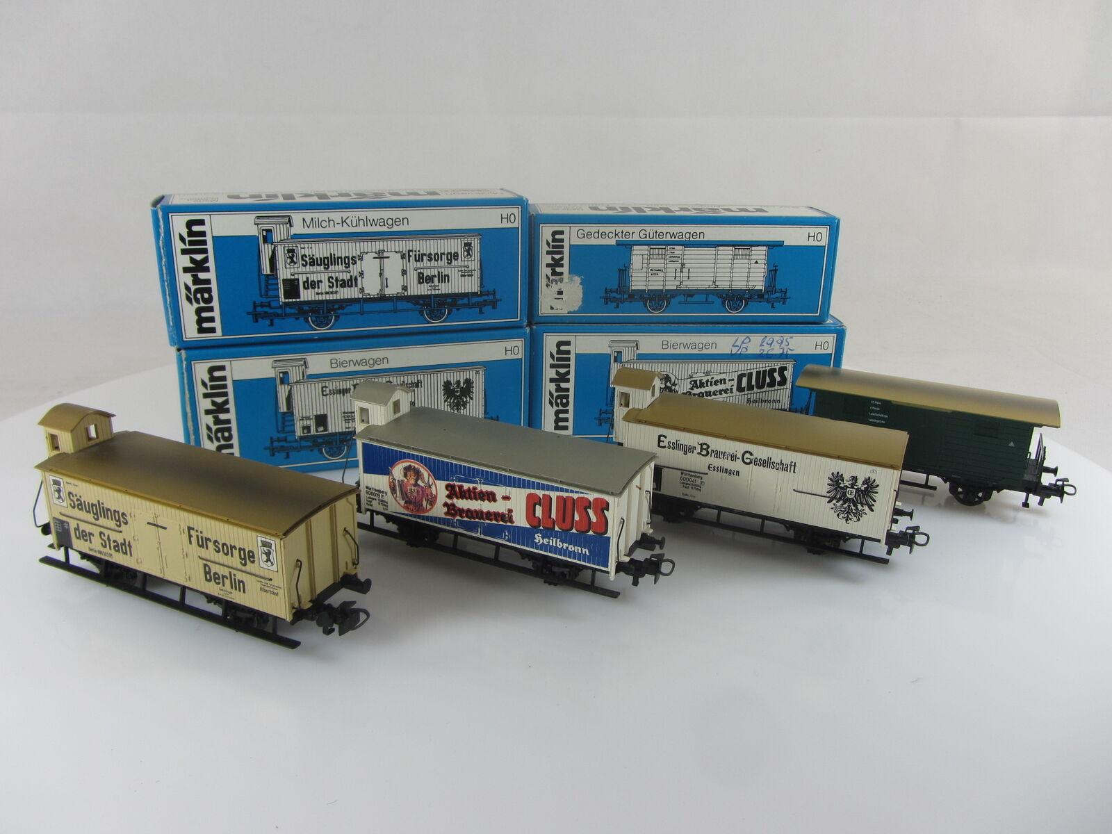 Märklin 4780,4781,4782 carro della birra g10 e 4685 carri merci Wurtenberg, Gebr. M OVP