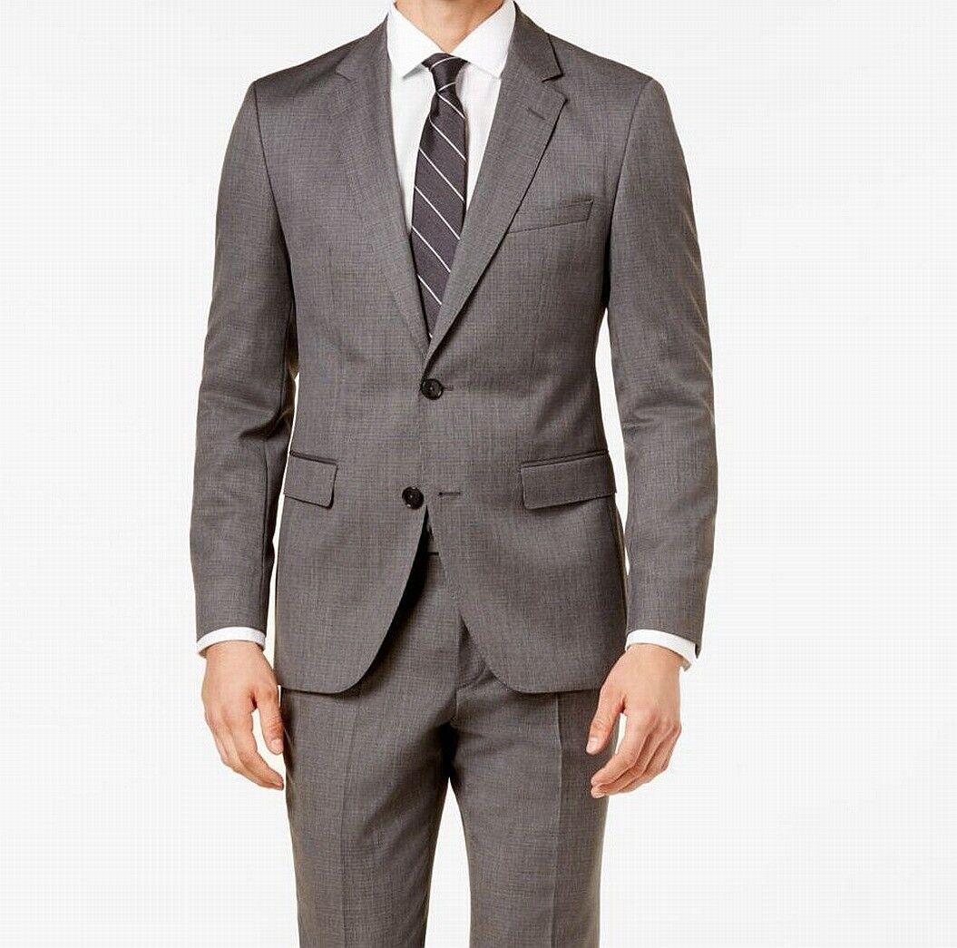 Hugo Hugo Boss NEW grau  Herren Größe 40R Two Button Wool Suit Blazer  610 154