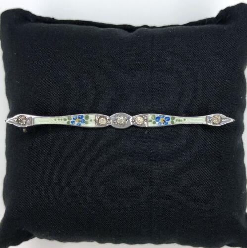 Antique Allco Sterling Silver Bar Pin Brooch Guill