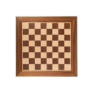 Scacchiera artigianale in legno di noce con intarsio in quercia 40 x 40 cm
