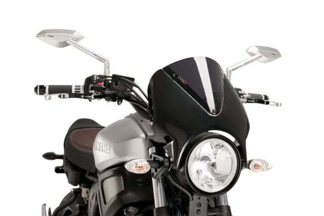 PUIG WINDSHIELD RETRO FOR YAMAHA XSR900 16-21 DARK SMOKE-BLACK