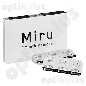 6er-pack Kaufen Sie Immer Gut Haben Sie Einen Fragenden Verstand Miru 1 Month Menicon 9500