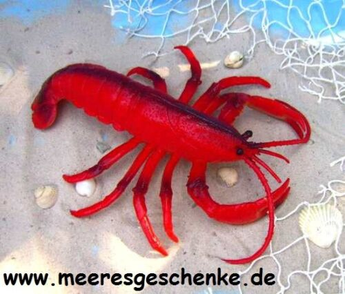 26 x 17 cm Maritime Deko Meerestier als Hummer rot ca